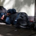 Nowhere to Stay - Man Sleeps Rough on Streets with No Shelter