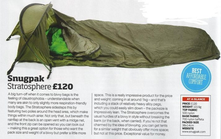 In the Press - Snugpak Stratosphere